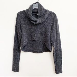 CAbi Cropped Hi-low Cowl Neck Polyester Sweater